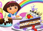 Gâteau à la génoise et crème