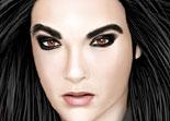 Piercing et maquillage de Bill Kaulitz de Tokio Hotel