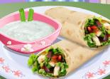Cuisiner des sandwichs Wraps viande légumes