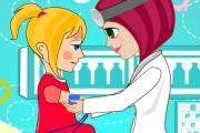 Une doctoresse soigne les enfants