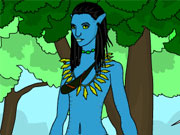 Colorier Neytiri du film Avatar