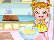 Recette d'un gâteau par bébé Hazel