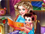 Une fée décore une chambre de petite fille