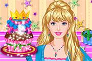 Gâteau d'anniversaire à décorer pour Barbie