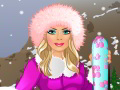 Barbie part au ski