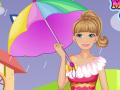Barbie sous la pluie