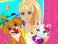 Barbie s'occupe d'un chien et d'un chat
