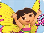 Habiller Dora en papillon