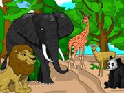 Colorier les animaux exotiques d'un parc animalier