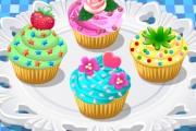 Préparation de cupcakes