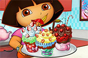 Gâteaux à la crème pour Dora