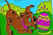 Oeufs de Pâques à mettre en couleurs