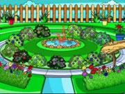 Coloriage d'un jardin de plantes