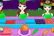 Cupcakes aux sucreries d'Halloween
