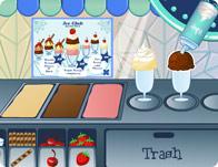Servir des glaces délicieuses à des clients préssés