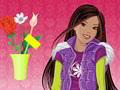 Barbie est fleuriste