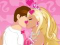 Baiser romantique de Barbie et Ken