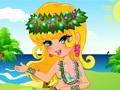 Habille une fille en jupe hawaïenne