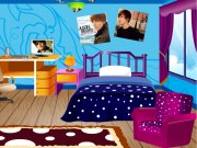 une fan de justin bieber d core sa chambre jeux pour. Black Bedroom Furniture Sets. Home Design Ideas