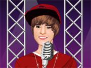 Vêtir Justin Bieber sur le podium