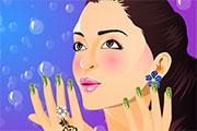 Maquillage des ongles de saison
