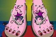 Ongles de pieds maquillés de Draculaura