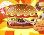 Sandwich viande et légumes