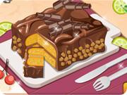 Cuisiner un gâteau délicieux chocolat arachides