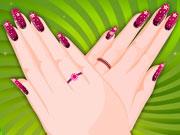 Maquillage des mains d'une jeune femme