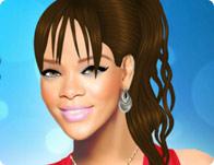 Rihanna fait un soin de beauté
