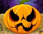 Citrouille d'Halloween flippante