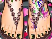 Maquillage des ongles de pied après une séance SPA