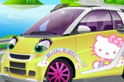 Tuning d'une voiture Hello Kitty