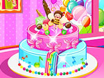 Décorer un gâteau de fête d'anniversaire